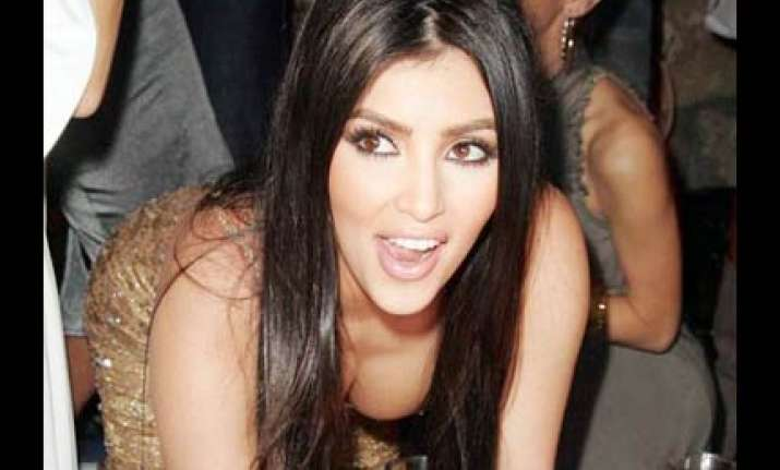 kim kardashian involved in drunken row with ex lover