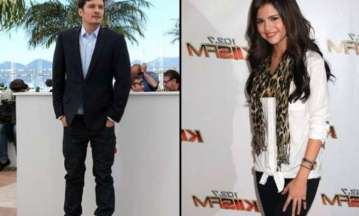 selena gomez orlando bloom spotted together speculations