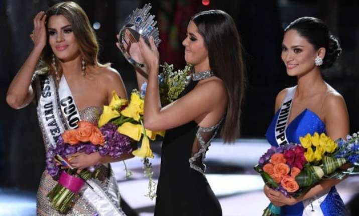 wrongly crowned miss universe expresses thoughts on harvey