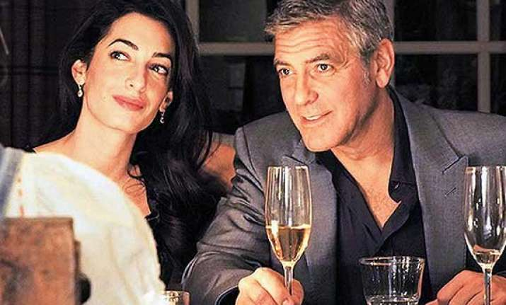 george clooney to have red blooded bachelor party