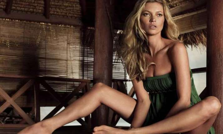 kate moss poses in lingerie for a cause