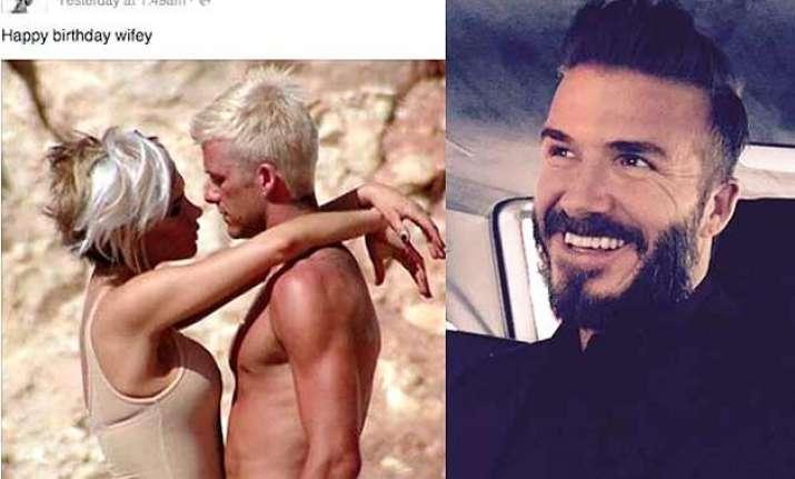 david beckham shares throwback image of wife victoria