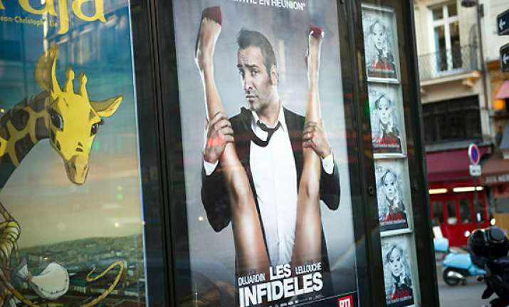 jean dujardin s controversial film posters removed in france