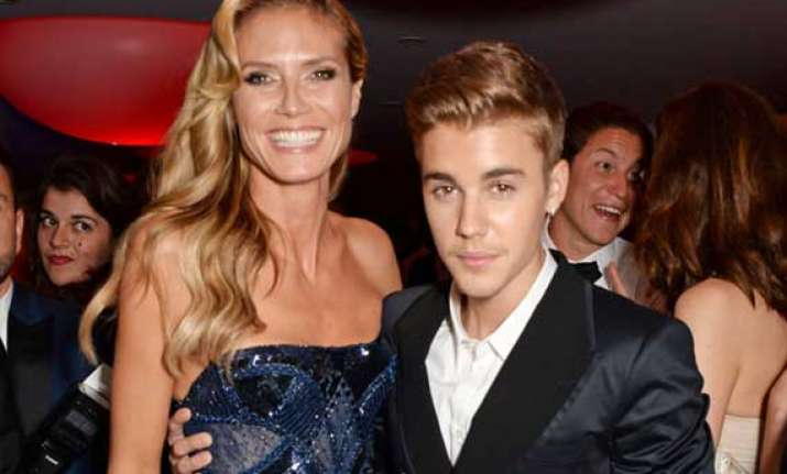justin bieber was not touching me heidi klum