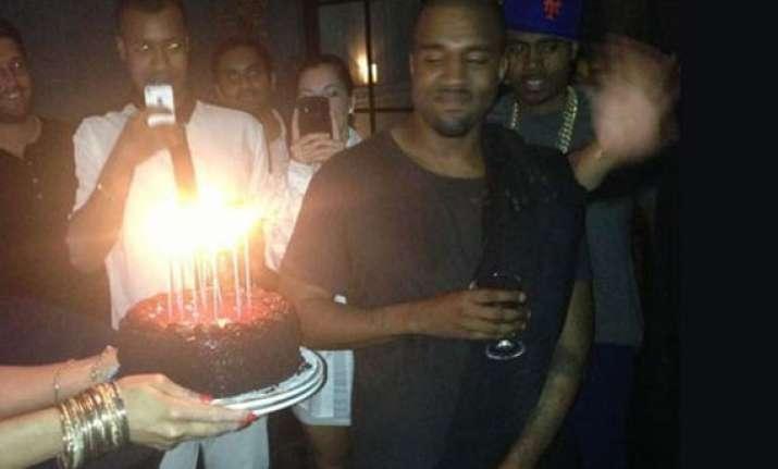 kanye west celebrates birthday without kim