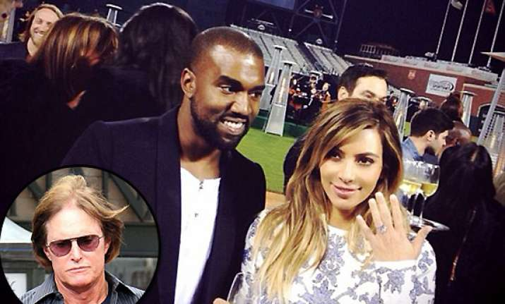 kanye didn t invite bruce jenner for surprise engagement