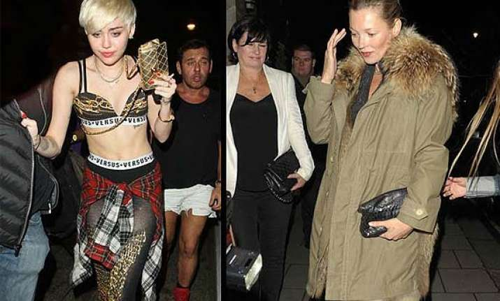 miley cyrus kate moss have a raunchy night out