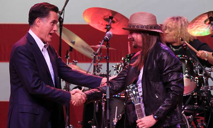 kid rock gets wild and free for romney event