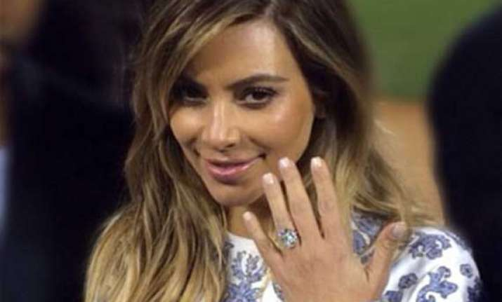 kim never takes off her engagement ring