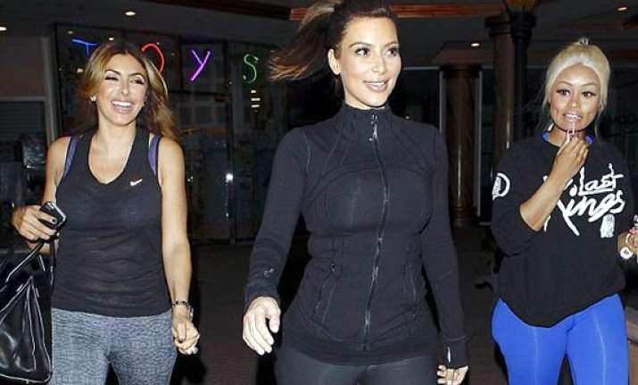 kim kardashian goes pole dancing with gal pals