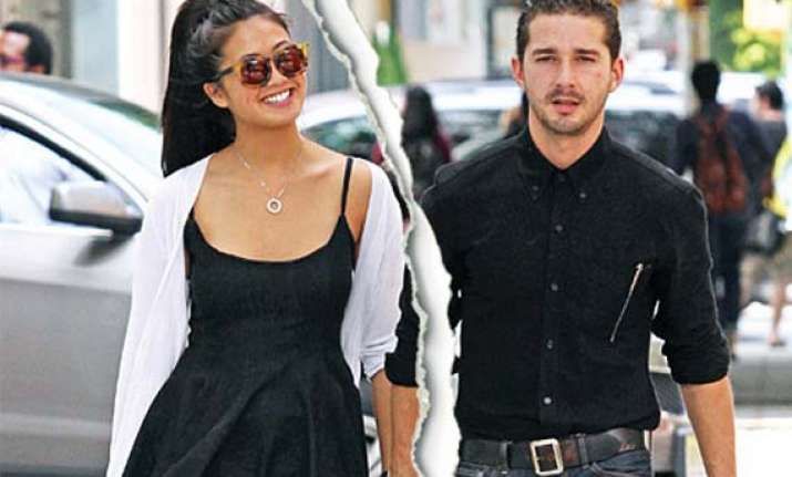 labeouf splits from girlfriend