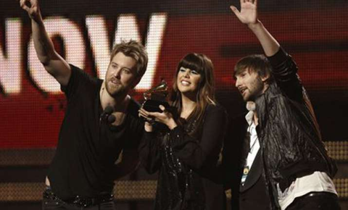 lady antebellum wins song of year grammy trophy