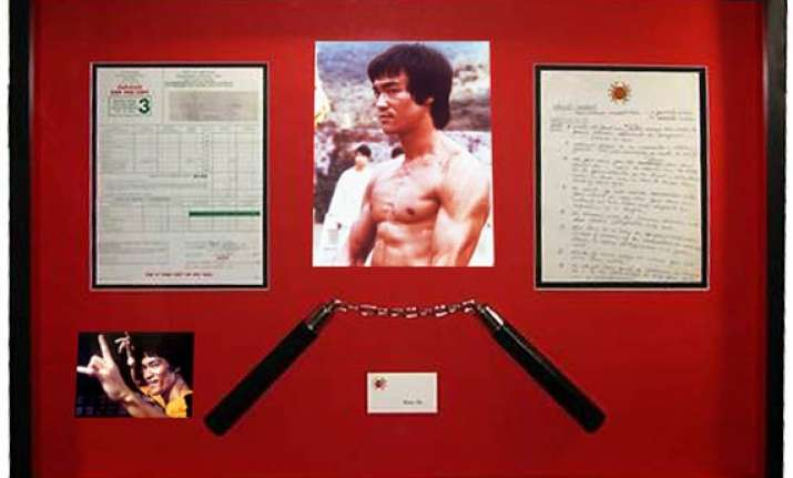 largest auction of bruce lee memorabilia takes place