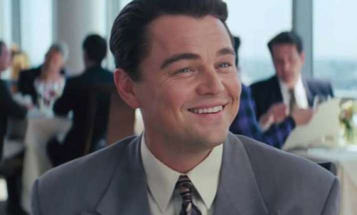 leonardo dicaprio in pain from wolf of... injury