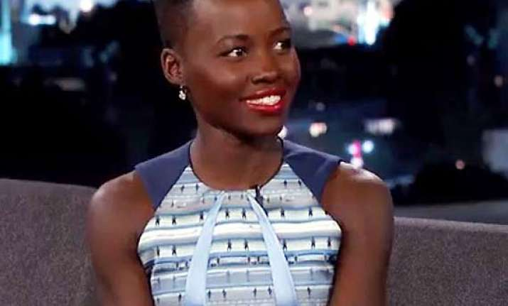 lupita nyong o s mother kept her away from nail paints