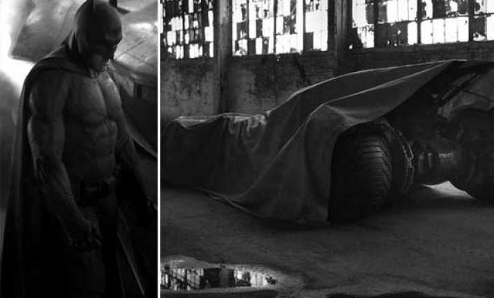 man of steel sequel first look of ben affleck as new batman