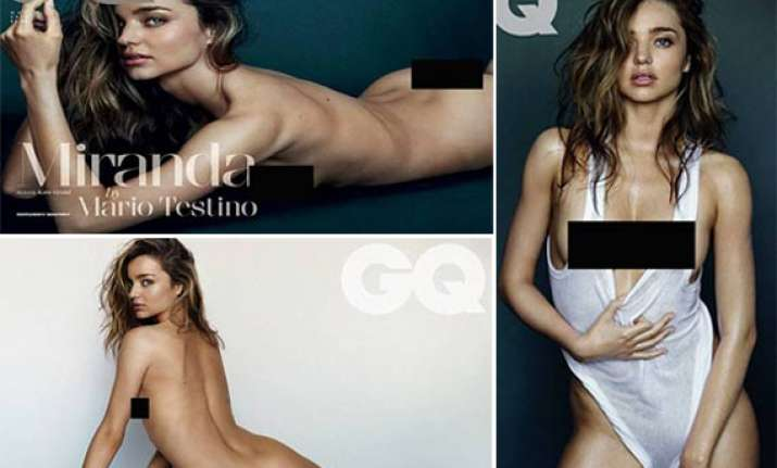 miranda kerr goes naked for gq magazine view pics