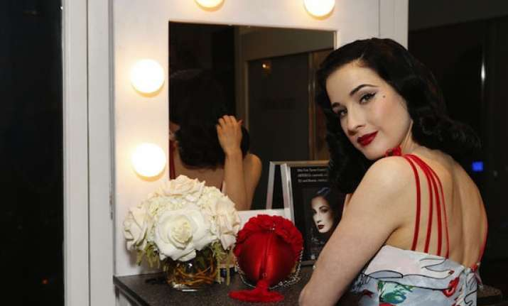not without beauty products says dita von teese