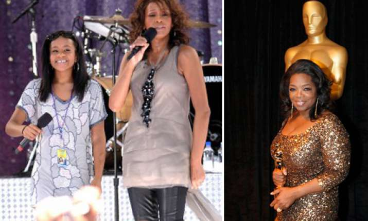 oprah will interview whitney houston s daughter