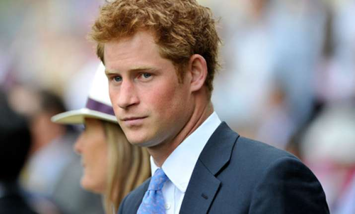 prince harry in vegas with mystery blonde reports