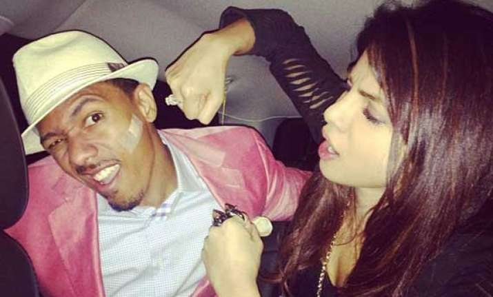 rapper nick cannon supports priyanka in new york