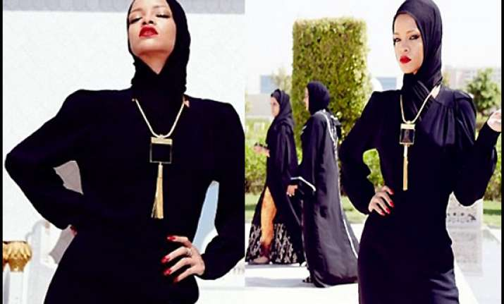 rihanna in trouble over raunchy photo shoot in abu dhabi
