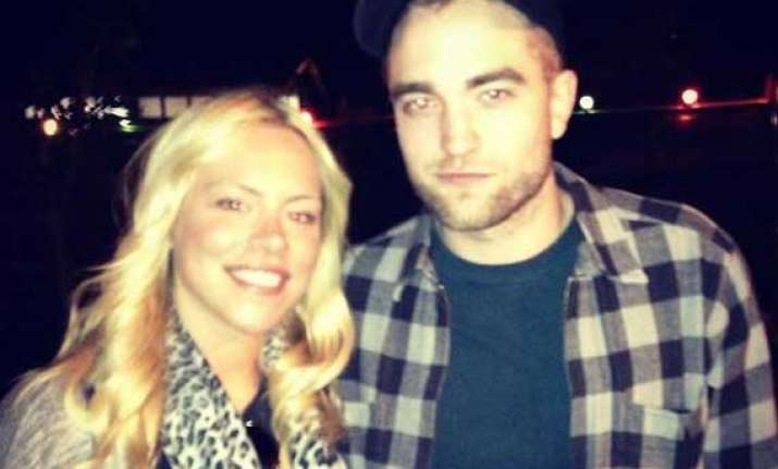 robert pattinson spotted with a mystery blonde