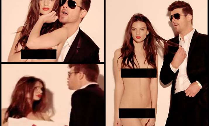 robin thicke relishing exciting phase view hot stills from