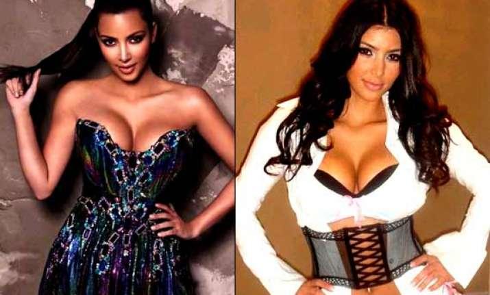 self obsessed kim kardashian sleeps wearing corset to lose