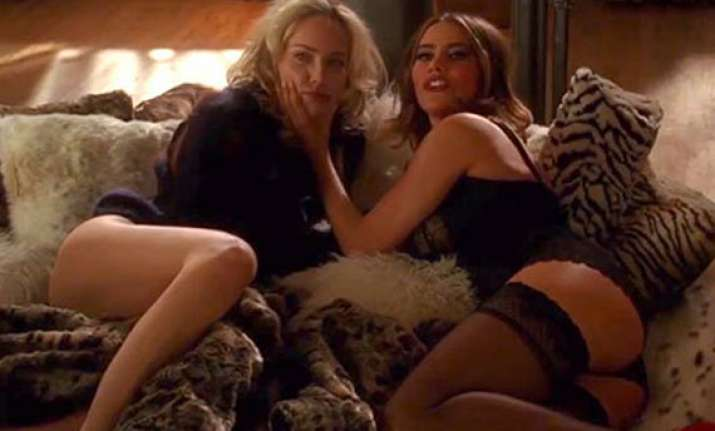sharon stone helped sofia vergara for threesome in fading