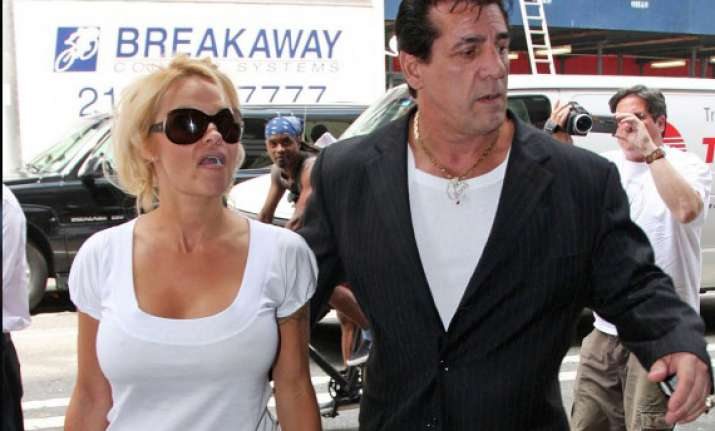 single pamela anderson mingles with ex flame chuck zito