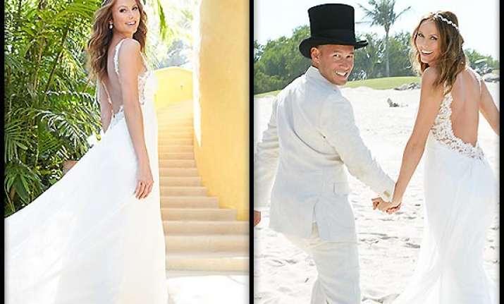 stacy keibler s surprise beach wedding