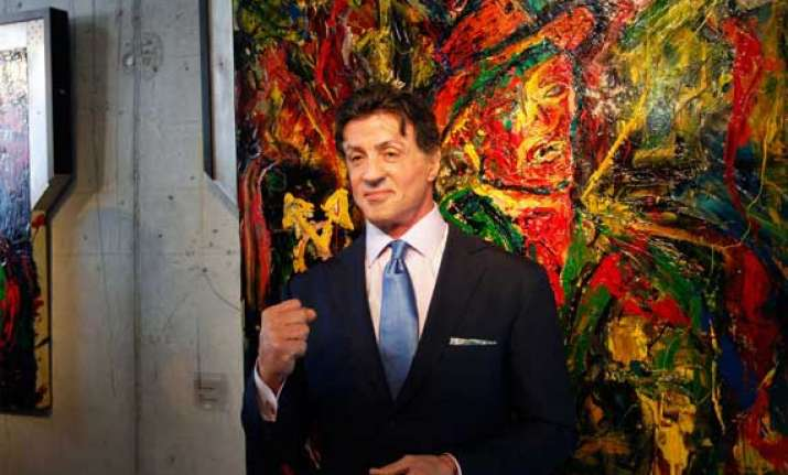 sylvester stallone to launch art retrospective