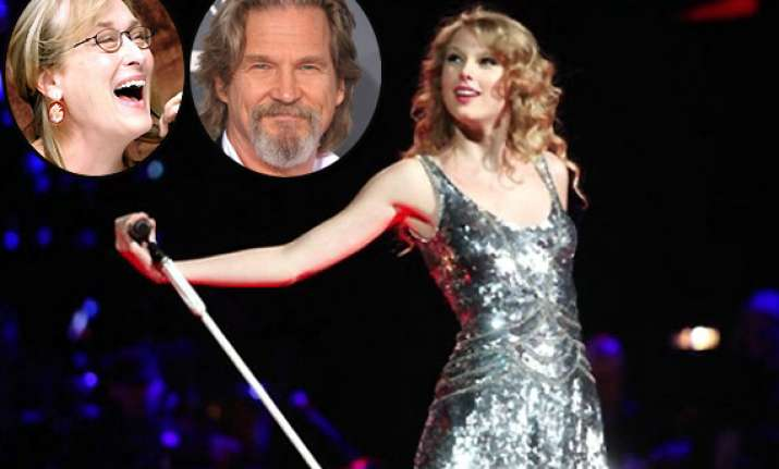 taylor swift to work with meryl streep and jeff bridges in