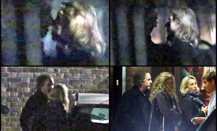 tim burton spotted kissing mystery woman view pics