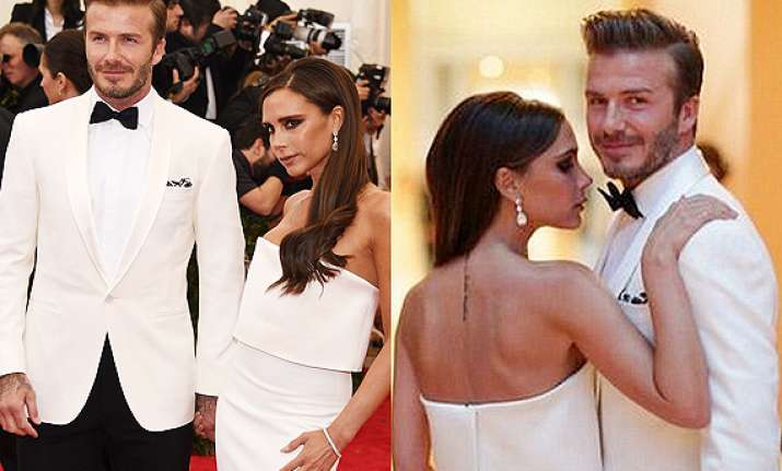 victoria david beckham step out in colour coordinated