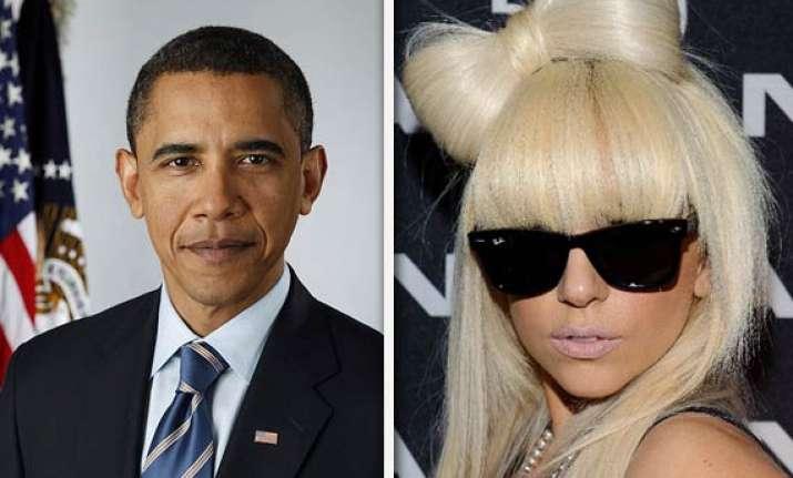 when lady gaga met obama