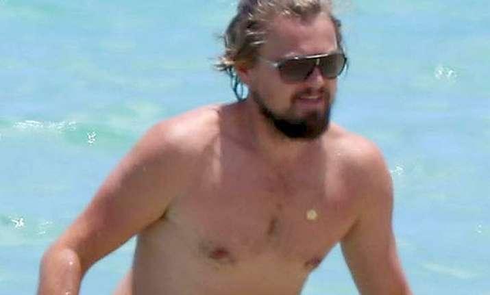 leonardo dicaprio holidaying in miami sports grizzly beard