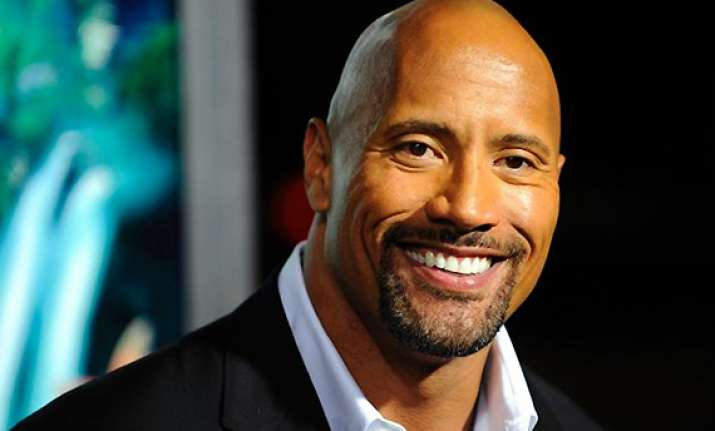 wrestler actor dwayne in talks for disaster based movie san