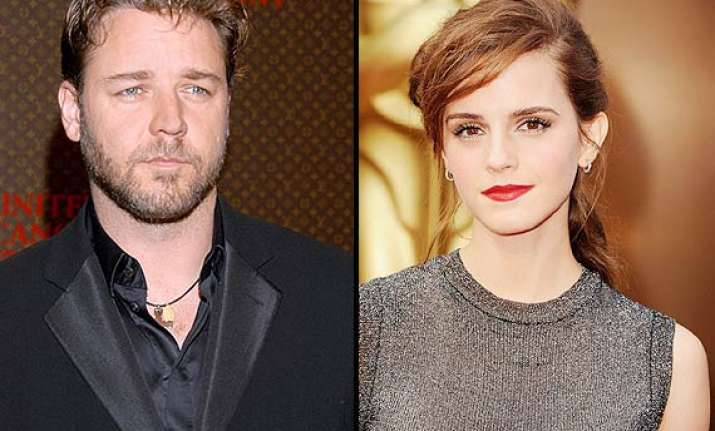emma wastson russell crowe toook dance lessons together