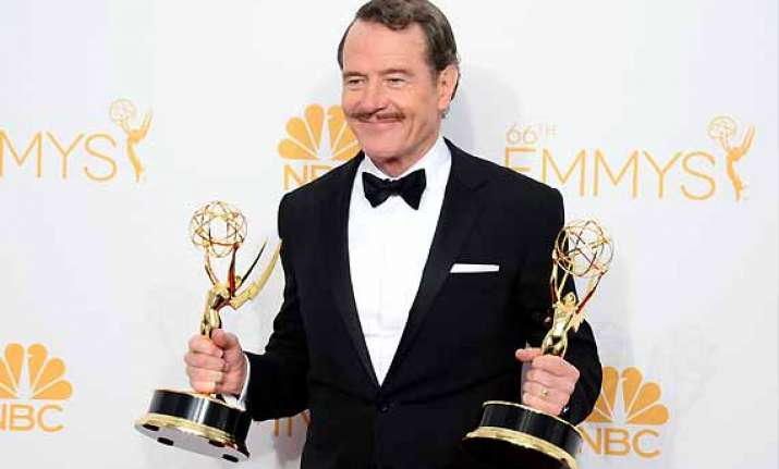 emmy awards 2014 bryan cranston wins emmy as best actor in