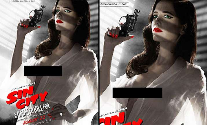 eva green s poses nude for sin city movie poster banned