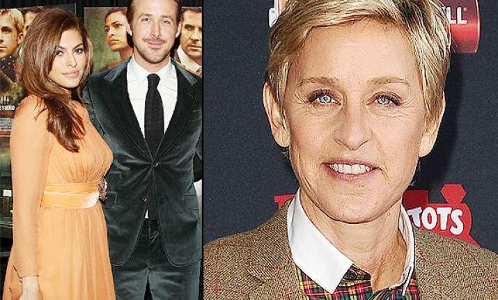 ellen degenres congratulates mendes gosling