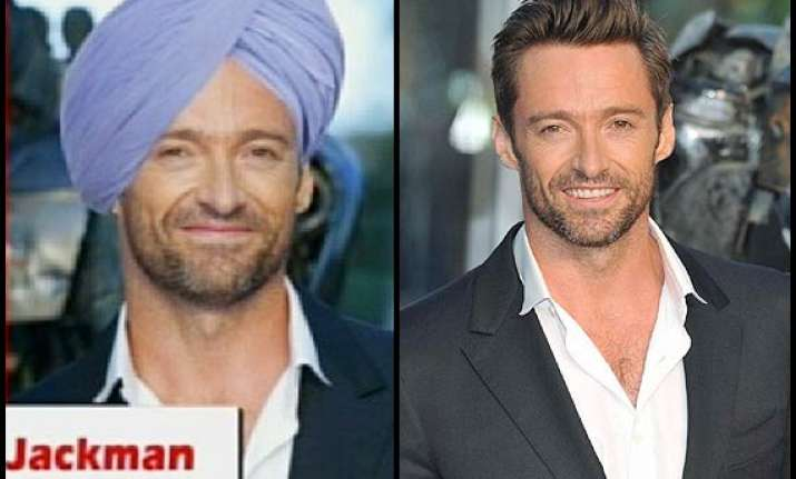 hugh jackman wears turban resembles pm manmohan singh see