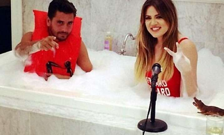 scott disick spotted having fun time bathtub with khloe