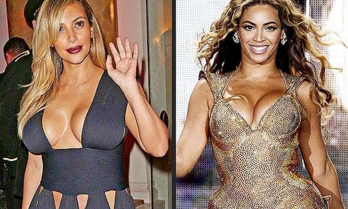 kim kardashian tries to copy beyonce