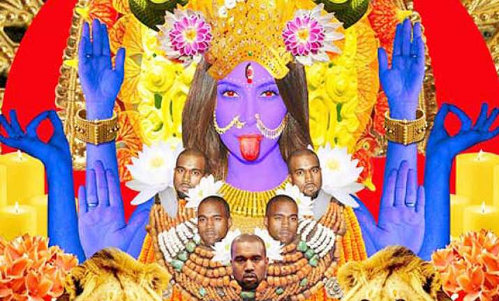 kim kardashian illustrated as maa kaali by one of her