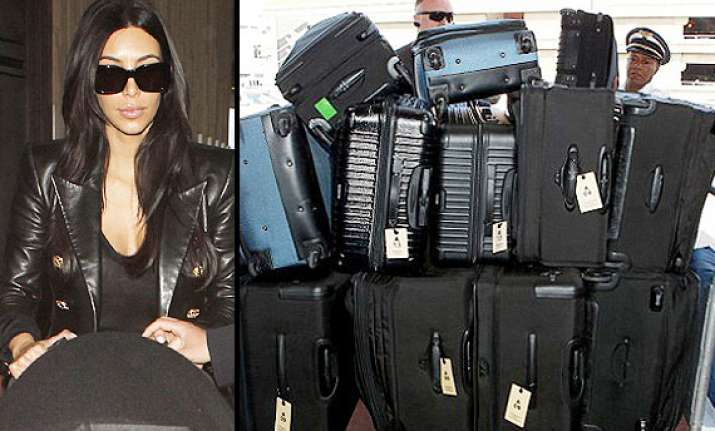 kim kardashian takes 12 bags with her for wedding in paris