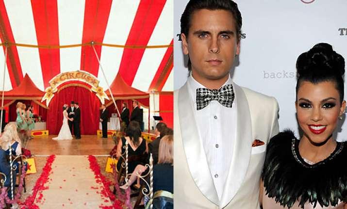 kourtney kardashian scott disick circus themed wedding for