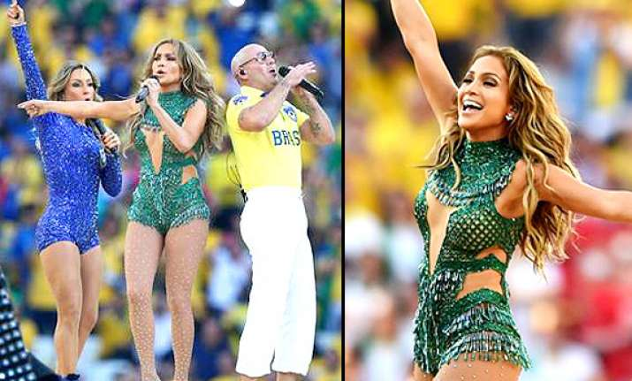 fifa world cup party see how jennifer lopez pitbull set the